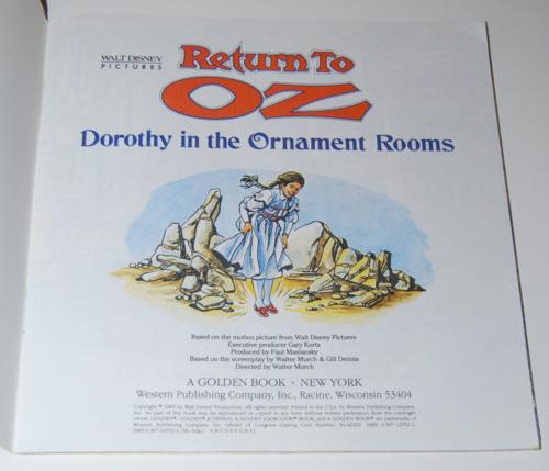 Return to oz books 1