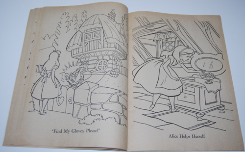 Alice in wonderland coloring book 5