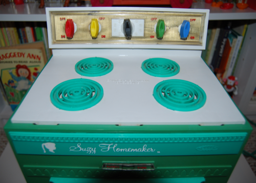Vintage suzy homemaker stove oven toy 6