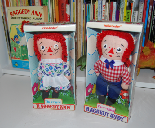 Vintage knickerbocker raggedy ann & andy x