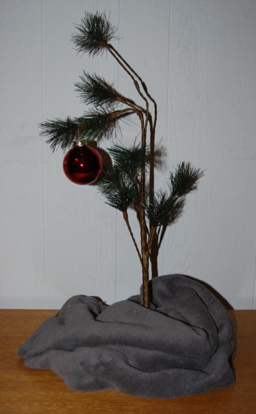 Charlie brown xmas tree x 2