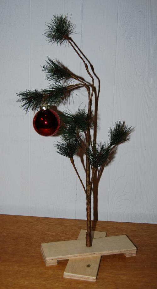 Charlie brown xmas tree x