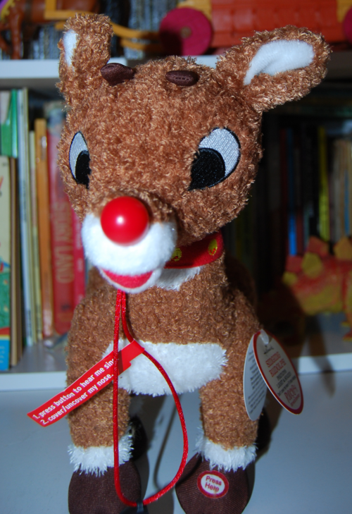 Singing rudolph plush toy 2