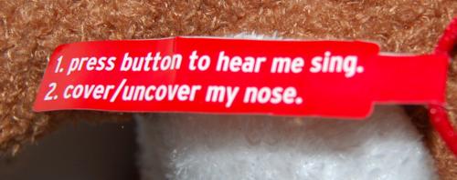 Singing rudolph plush toy 5