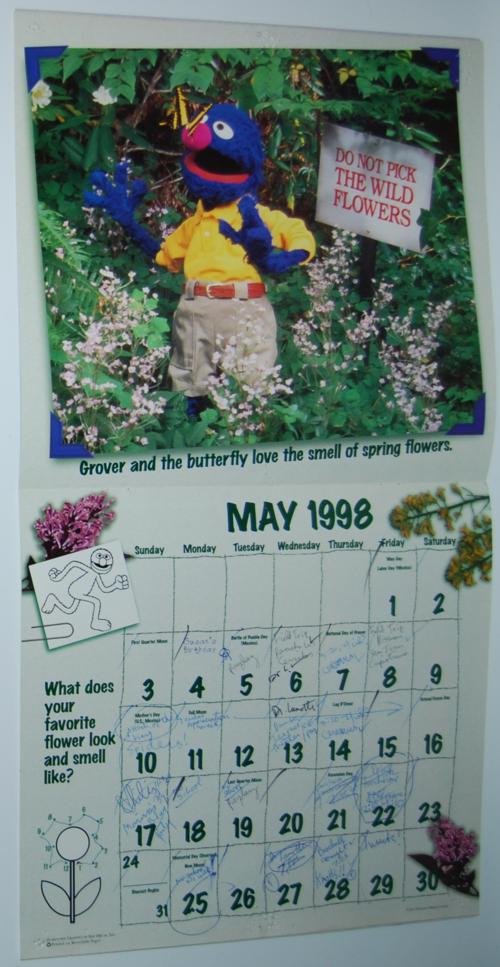 Sesame street calendar 1998 3