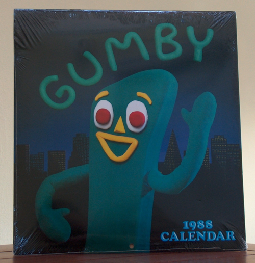 1988 gumby calendar