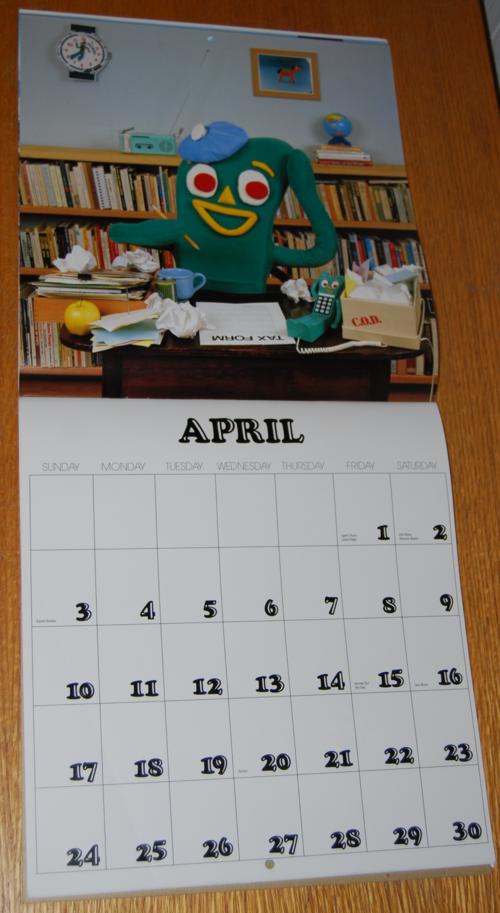 Gumby calendar 4