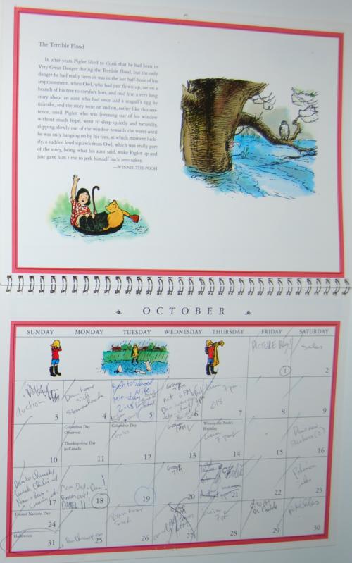 Winnie the pooh 1999 calendar 5