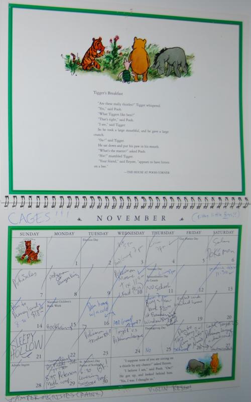 Winnie the pooh 1999 calendar 6