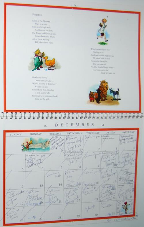 Winnie the pooh 1999 calendar 7