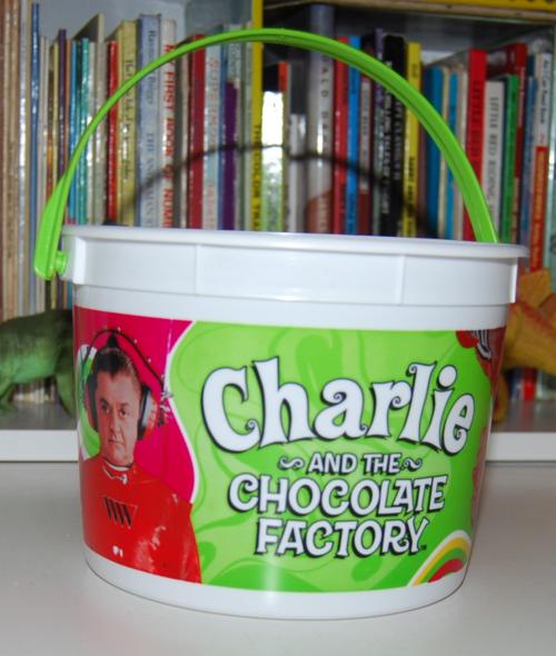 Charlie & the chocolate factory carls jr bucket