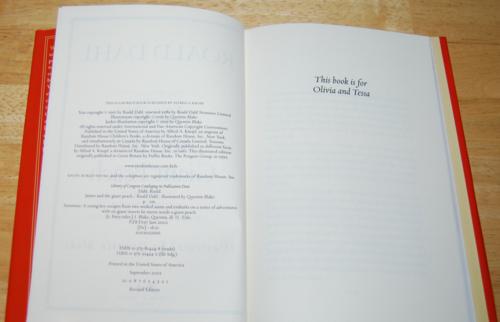 Roald dahl books james & the giant peach 1