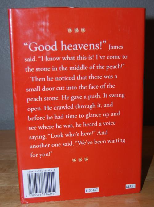 Roald dahl books james & the giant peach x