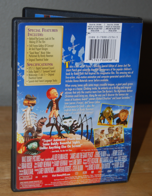 James & the giant peach dvd x