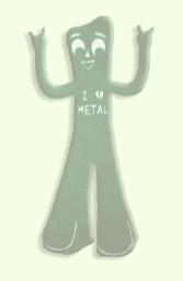 I heart metal gumby