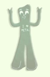 I heart metal gumby