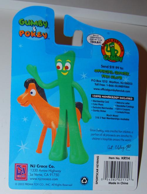 Gumby keychain moc nj croce 2002 1