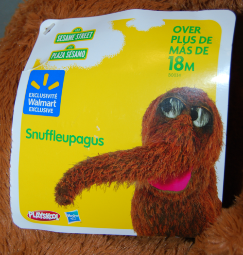 Mr snuffleupagus plush x