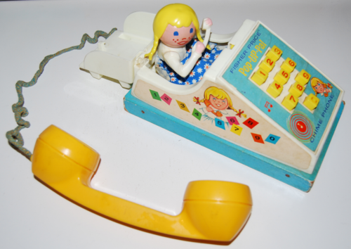 Vintage fisher price pop up pal chime phone 2