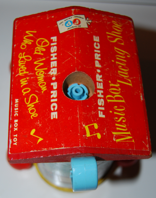 Vintage fisher price old woman who lived in a shoe 3