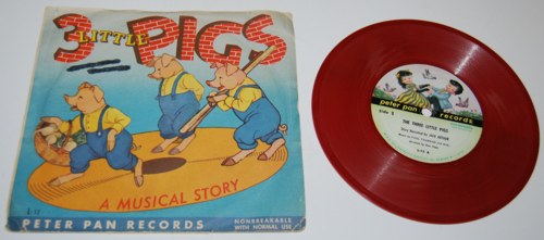 Vintage peter pan records for children