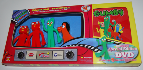 Gumby bendys & dvd set 2