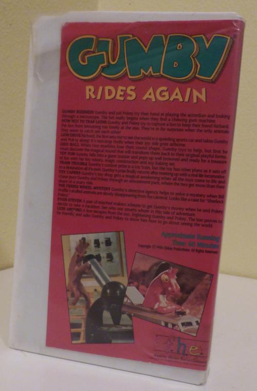 Gumby rides again vhs x