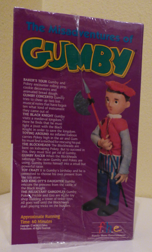 The misadventures of gumby vhs x