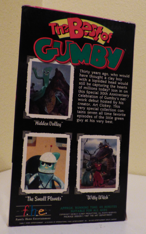 The best of gumby vhs x