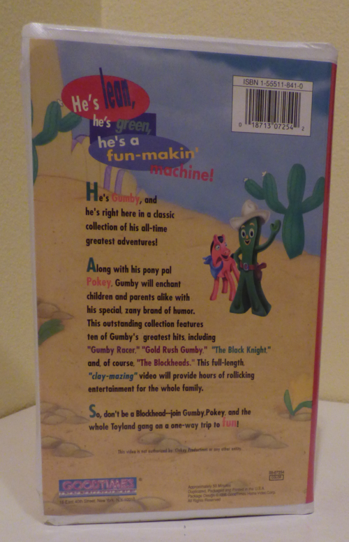 Gumby's greatest adventures vhs x