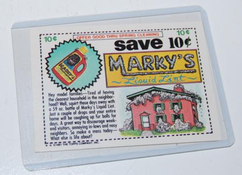 Scumby wacky pack card x