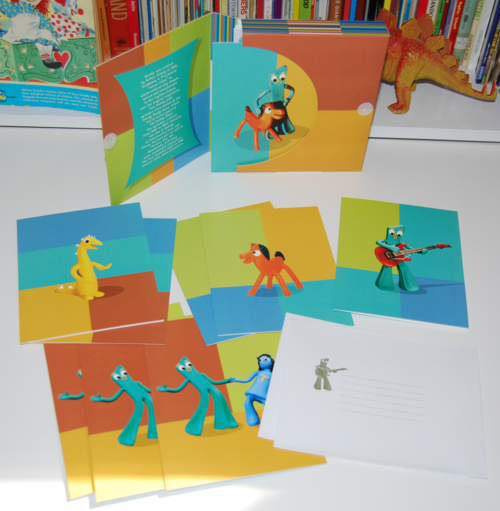 Gumby notecard set