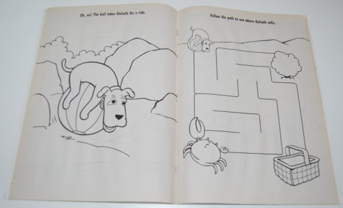 Davey & goliath coloring books 5