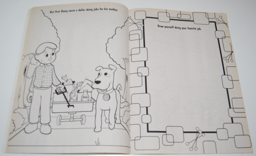 Davey & goliath coloring books 13