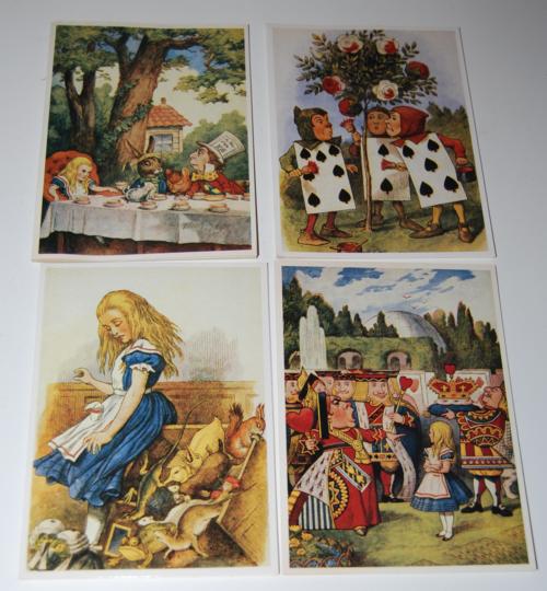 Alice in wonderland notecard set 4