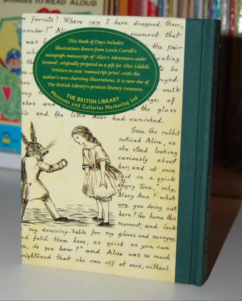 Alice's adventures underground book of days x