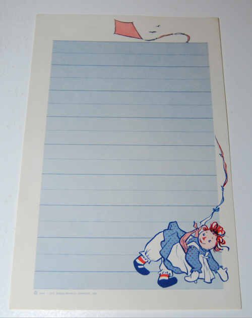 Raggedy ann stationery 5