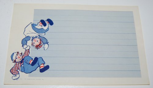 Raggedy ann stationery 6