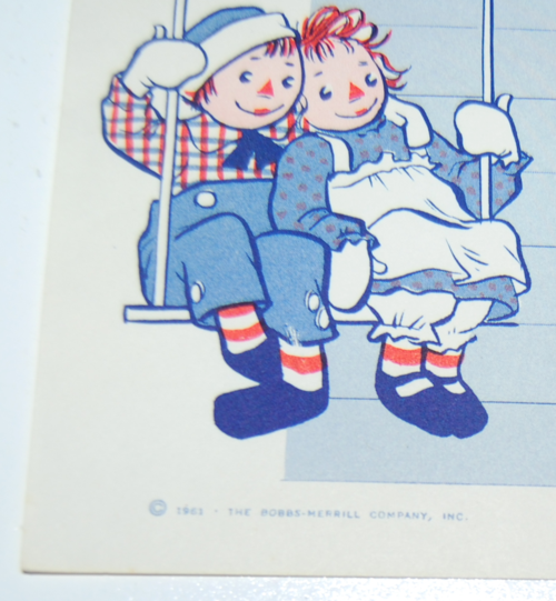Raggedy ann stationery 8