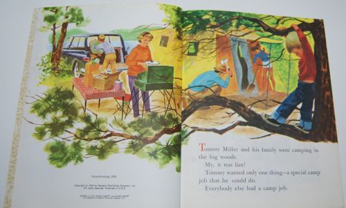 Tommy's camping adventure little golden book 2