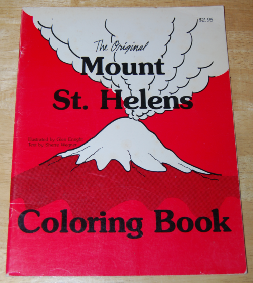 The original mt st helens coloring book