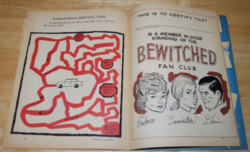 Bewitched vintage activity book 12