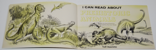 I can read about prehistoric animals 1