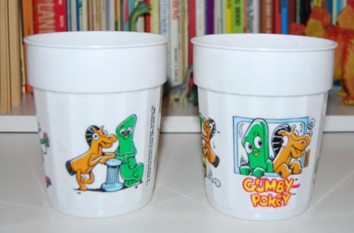 Gumby plastic tumblers