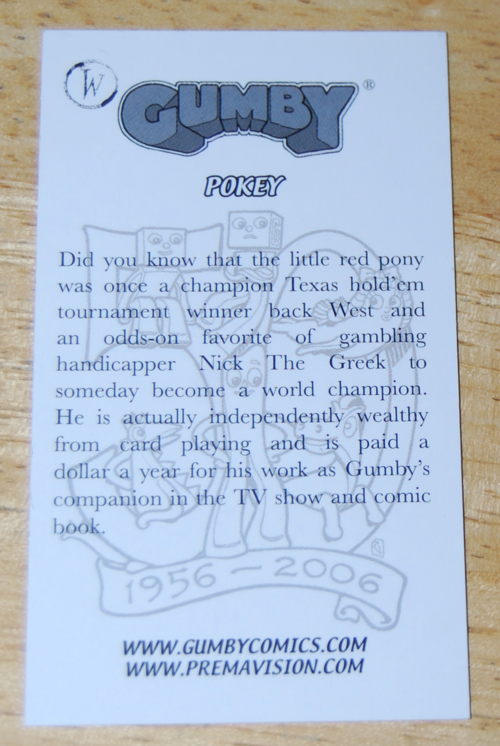 Comiccon card pokey x