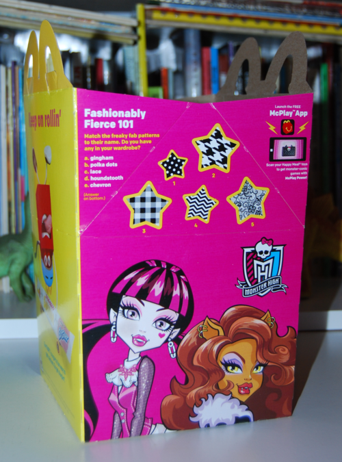 Monster high happy meal toys 2015