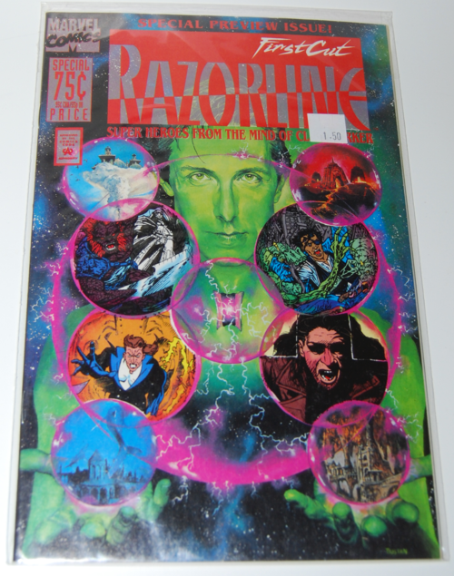 Razorline clive barker comic