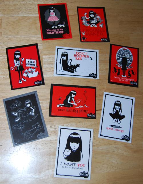 Emily strange trading cards 1