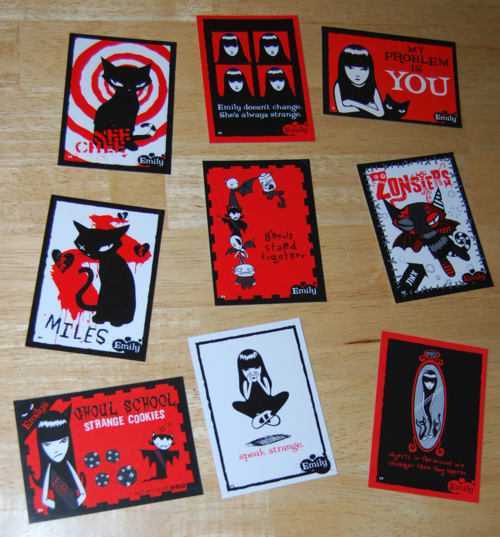 Emily strange trading cards 3