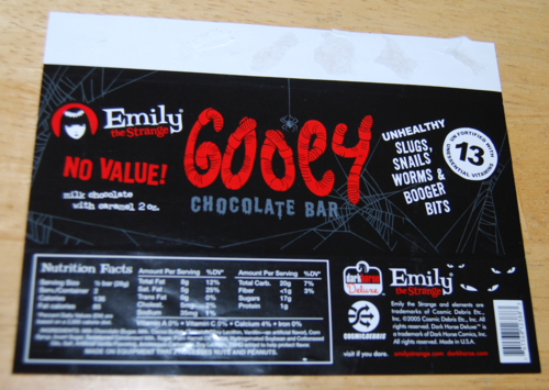 Emily the strange chocolate bar